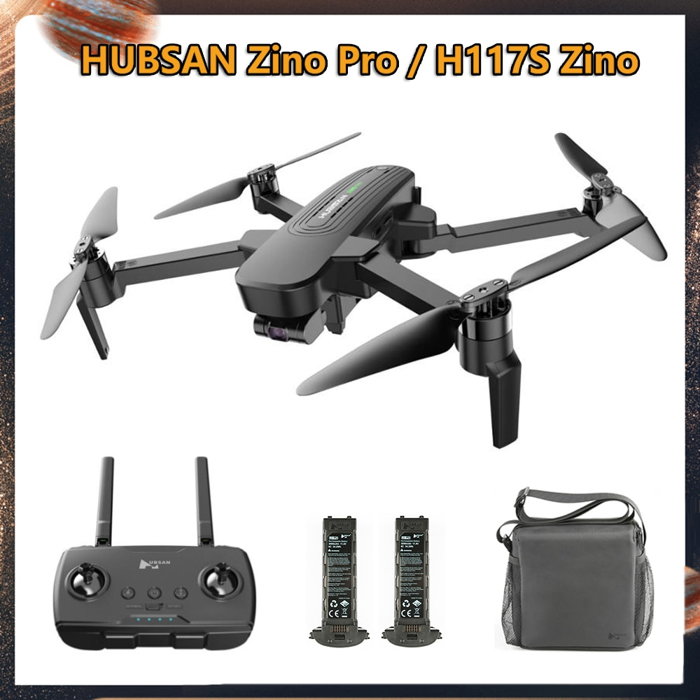 HUBSAN Zino Pro / H117S Zino 4KM GPS Drone con cámara 4K FPV UHD Drone 5G WiFi sin escobillas RC Quadcopter esfera Panoramas Dron