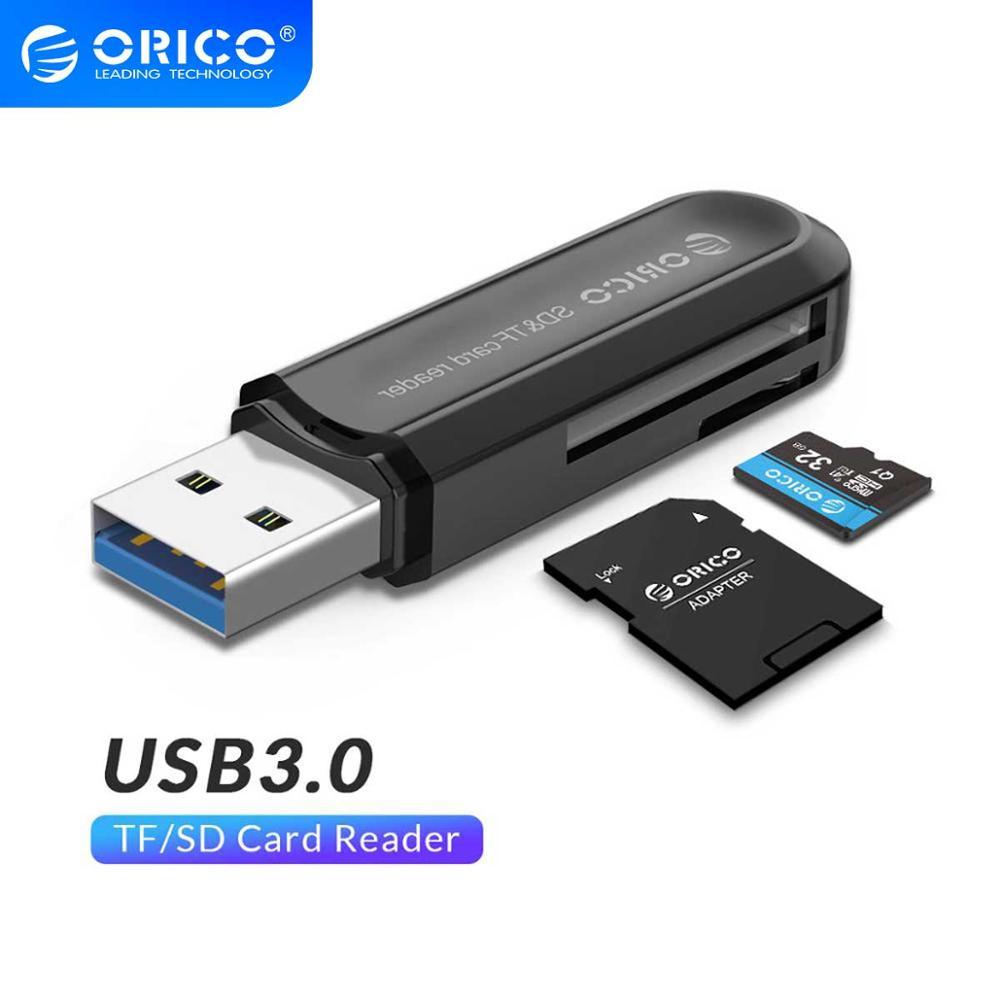 Lector de tarjetas ORICO USB 3,0 SD/Micro SD TF adaptador de tarjeta de memoria para Macbook Pro Samsung Laptop USB3.0 lector de tarjetas SD