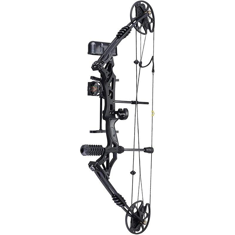 قوس رماية احترافي للصيد مجموعة وصل حديثاً 30lbs-70lbs قوس مجمع للصيد مع 12 سهم