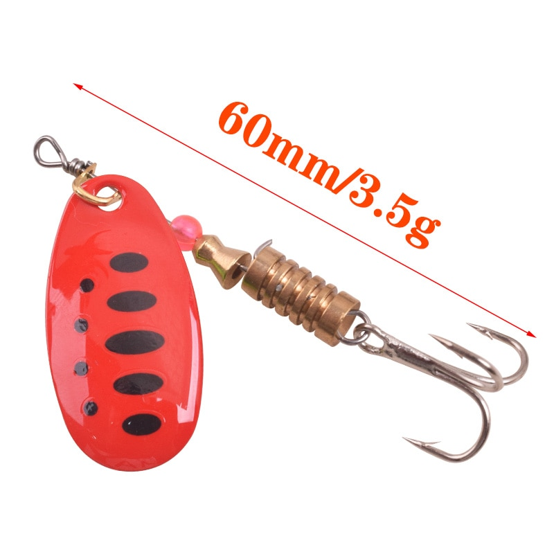 PROLEURRE10pcs Boxed Mixed Rotating Spoon Fishing Lures Spinner 3.5g 5.5g Artificial Sequins Baits For Bass Trout Perch pike enlarge