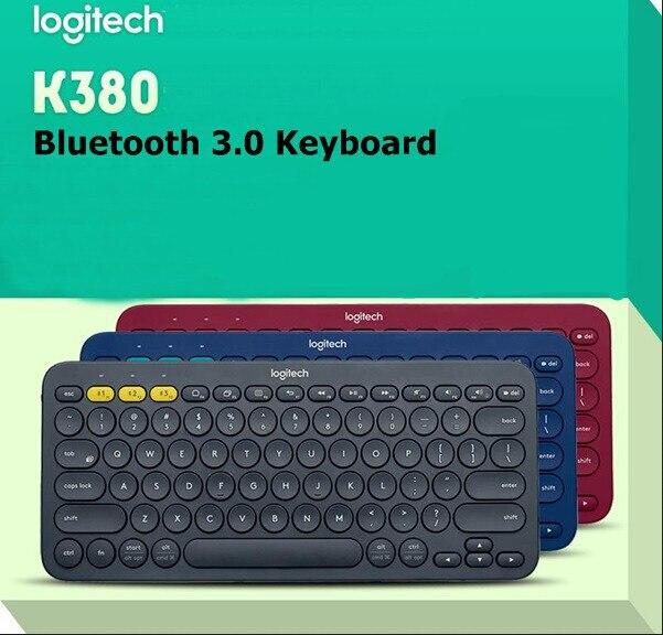 Nuevo auténtico Logitech K380 Multi-dispositivo teclado Bluetooth para Windows Mac Chrome OS Android iOS Apple TV