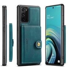 Съемный кожаный чехол для Samsung Galaxy Note 20 Ультра S20 FE S21 Plus Note 10 A51 A71 5G кожаный чехол кошелек для телефона на магните с сумкой