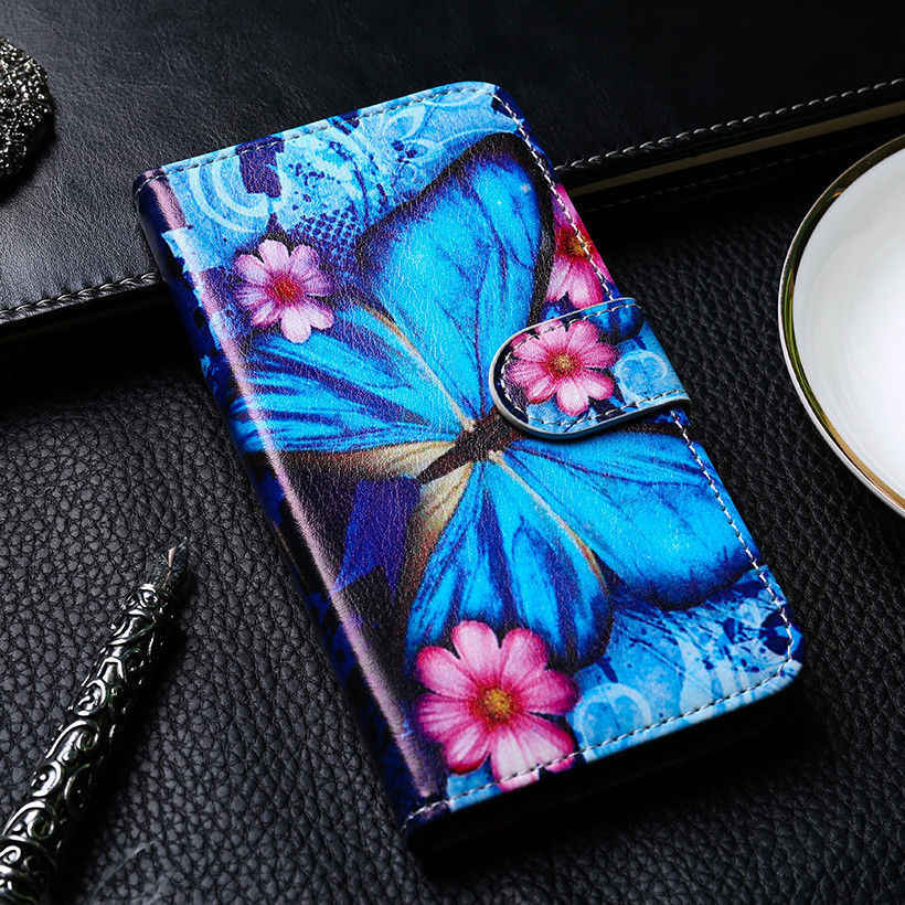Funda de cuero para Samsung Galaxy J4 J6 Plus J8 2018, funda con tapa, BILLETERA, fundas pintadas para Samsung J400 J600 J810 J415