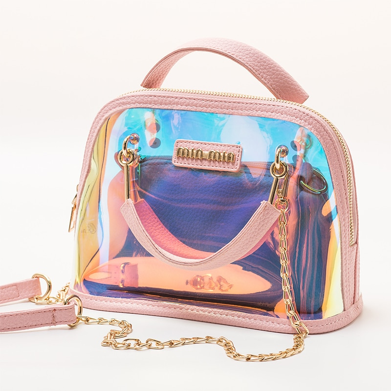 Bolso claro de las mujeres 2019 transparente bolso bolsos de lujo de moda de las mujeres Itb Top pequeño mango bolso de hombro