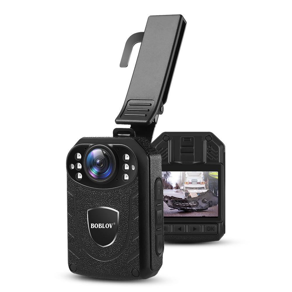 Boblov KJ21 كاميرا يتم ارتداؤها على الجسم 64GB HD 1296P DVR فيديو الأمن كاميرا الأشعة تحت الحمراء للرؤية الليلية يمكن ارتداؤها كاميرات الفيديو المصغرة ك...