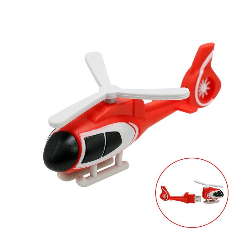64GB USB-stick Kühle luft flugzeug Hubschrauber pendrive 256 4 16 8 32 128 gb stift drive Cle USB2.0 Key memory 256GB Thumbdrives