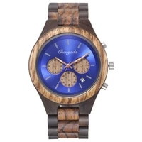 vicvs luxury brand new mens watches alloy wooden quartz wristwatch classical bussiness chronograph watch for man