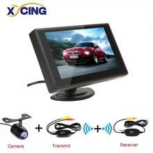 Xycing 4.3 Polegada tft lcd monitor do carro monitor de exibição câmera reversa sistema de estacionamento para monitores retrovisor do carro ntsc pal