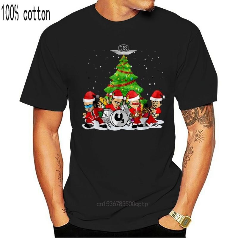 Camiseta de natal u2 banda tshirts