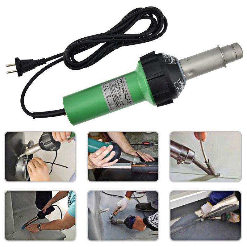 1600W Plastic Welding Gun Hot Air Torch Heat Gun Welder For PVC Vinyl Floor, PP, PE Water Tank Geomembrane US EU Plug 220V