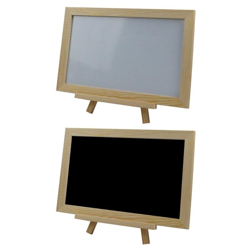 Single Side Mini Wooden Tripod Blackboard Message Sign Note Marker Chalkboard Whiteboard
