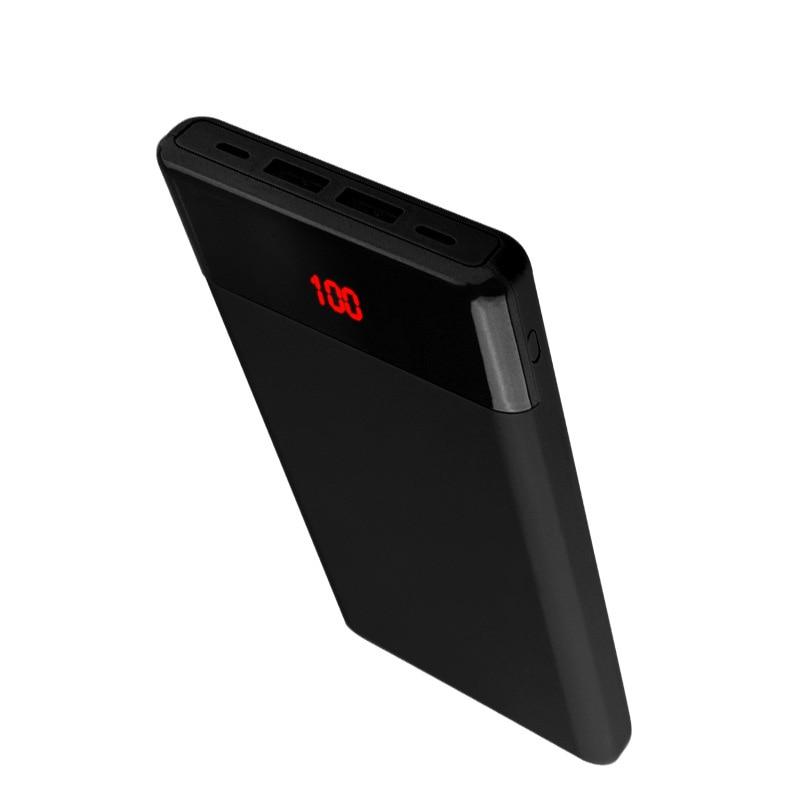 10000mAh banco de energía ultradelgado más grande pantalla LED Digital tipo c entrada USB 2.1A carga rápida Banco de la energía para el teléfono móvil