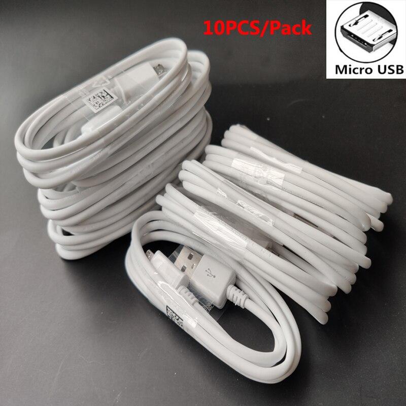 10 unids/lote Micro USB Cable cargador de Cable para Samsung J3 J5...