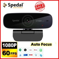 spedal af926 webcam full hd1080p 60fps auto focus stream with microphones %e3%80%90include software%e3%80%91usb camera for business conferencing