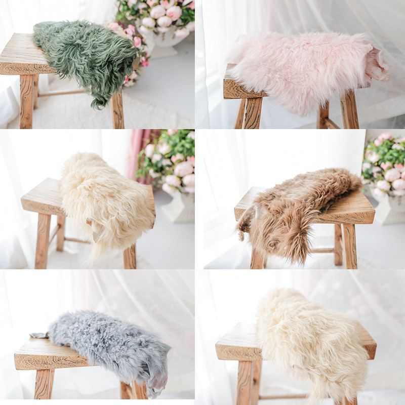 Newborn Photography Background High Quality Pure Wool Blanket Props for Photography Flokati Fotografia Acessorio Photo Shoot Mat newborn photography props mohair knit wraps backdrops set stretchy blanket for baby photo shoot accessories fotografia acessorio