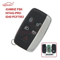 kigoauto kobjtf10a smart key 5 button 434mhz for jaguar xj xk xf xe f 2010 2011 2012 2012 2014 2015