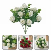6 colors attractive vivid aesthetic artificial rose portable artificial flower exquisite for home