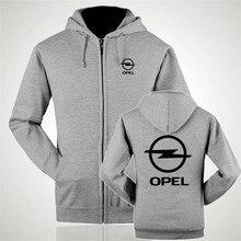 Zipper Hoodies Opel logo Printed zipper Hoodie Fleece Long Sleeve zipper Jacket Sweatshirt
