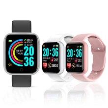 Y68 Smart Watch Women Men Sport Bluetooth Smart Band Heart Rate Monitor Blood Pressure Fitness Track