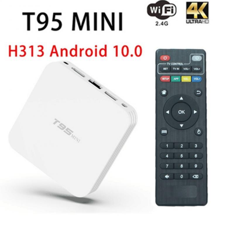Android 10.0 TV Box T95 Mini Quad Core 2GB+16GB RAM 4GB+64GB/32GB ROM Smart TV STB 2.4G WiFi Set Top Box 4K HDR Media Player