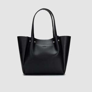 Female Bag New Tote Bag Simple Large Capacity Net Black Handbag Shoulder Shopping Bag Big Bag Women High Quality Bucket Handbag