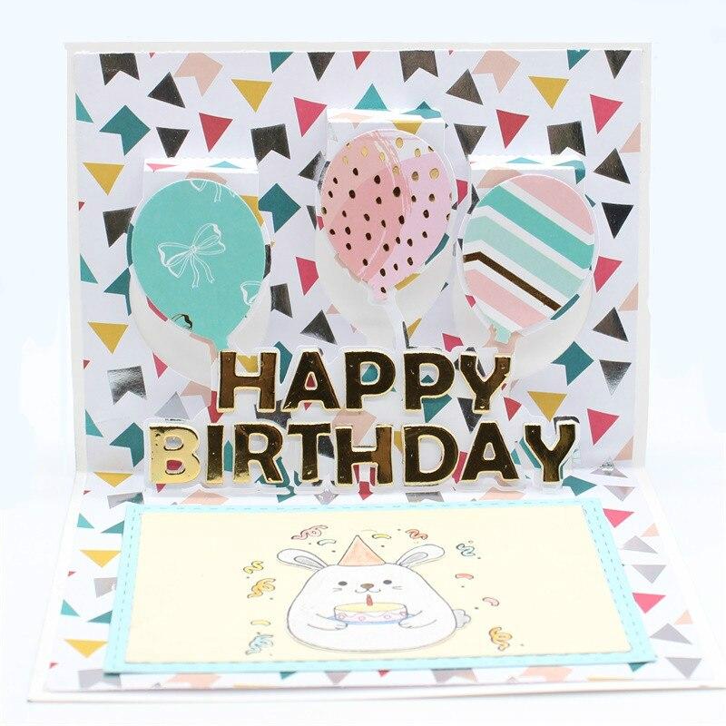KSCRAFT Feliz cumpleaños troqueles de corte de Metal para DIY Scrapbooking/álbum de fotos grabado decorativo tarjetas de papel DIY