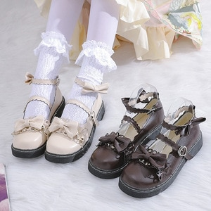 2021 New Lolita Women Shoes Big Shoes JK Uniform Small Shoes Mary Jane Round Head Girl Shoes Bowknot Women Fashion Casual Shoes