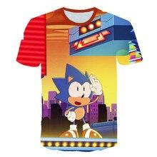 2020 Kids Fashion Boys Tshirt Tops Tees Short Sleeve Cartoon sonic the hedgehog Boys Clothes Kid T shirt for Children 4T-14T