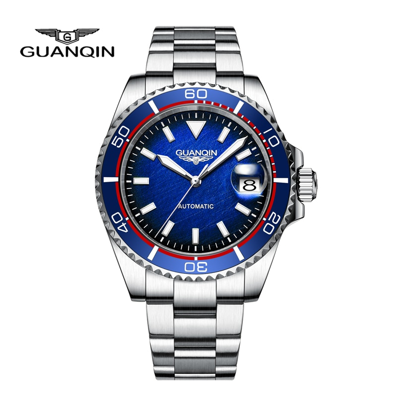 GUANQIN Men's Watches Brand Luxury NH35 Automatic Watch For Men Mechanical Wristwatches Stainless St