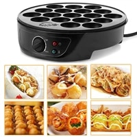 220v 18 holes chibi maruko baking machine household electric takoyaki maker octopus balls grill pan professional cooking tools