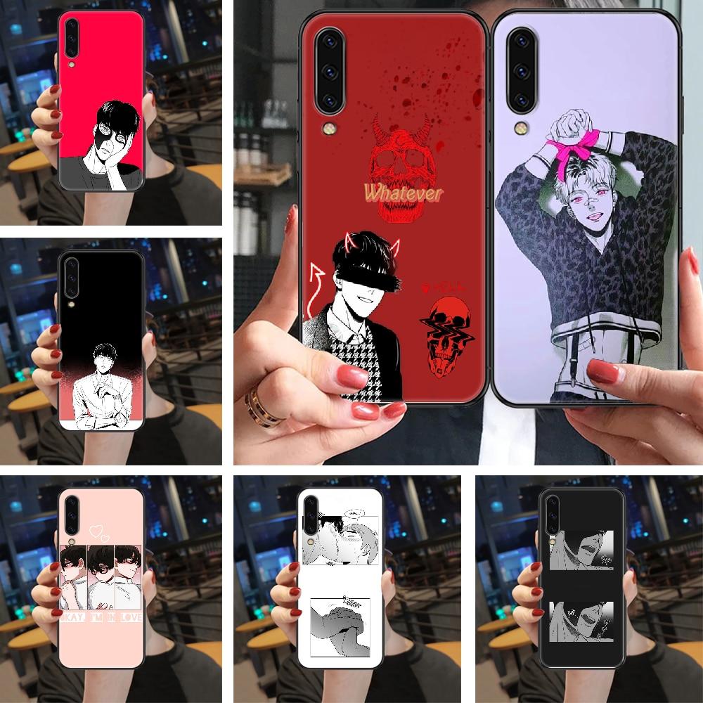Bj alex-funda de teléfono para Samsung Galaxy, carcasa negra estilo bumper A...