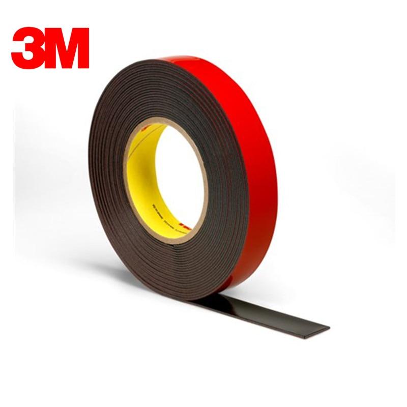 25.4 مللي متر X36YD 3M الاكريليك زائد الشريط PT1500 ، أسود ، 60 مليون ، دروبشيبينغ