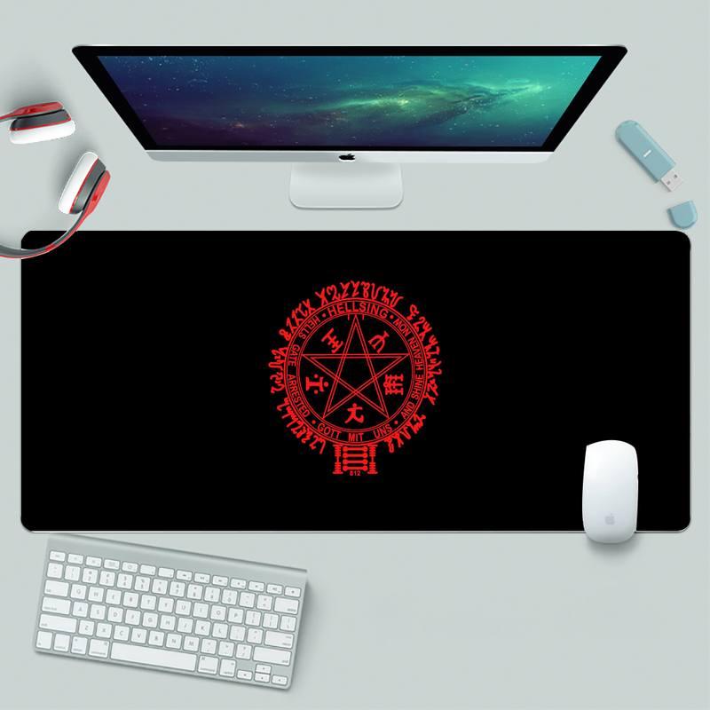 Прочный резиновый коврик для мыши Alucard Hellsing, резиновый коврик для игровой мыши XL, большой игровой коврик для клавиатуры, настольного ПК, ковр...