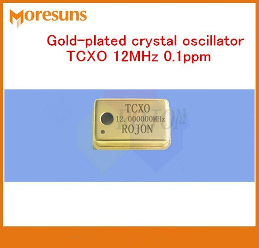 De temperatura de alta precisión-Indemnización oscilador de cristal TCXO 12MHz 0.1ppm chapado en oro de oscilador de cristal