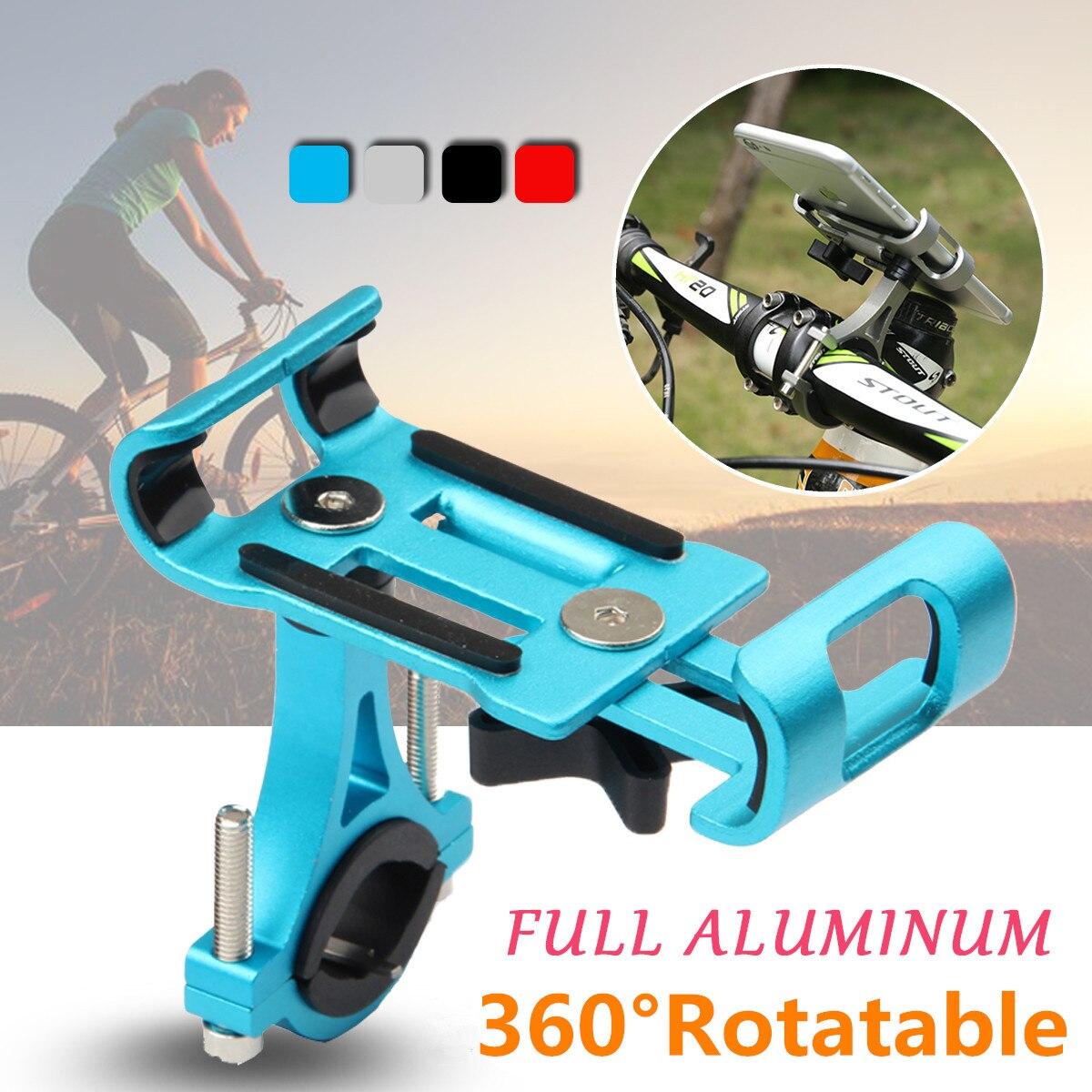 Soporte de teléfono para bicicleta de aluminio para motocicleta Clip de teléfono para Xiaomi soporte de montaje de manillar de Scooter Eléctrico para cochecito