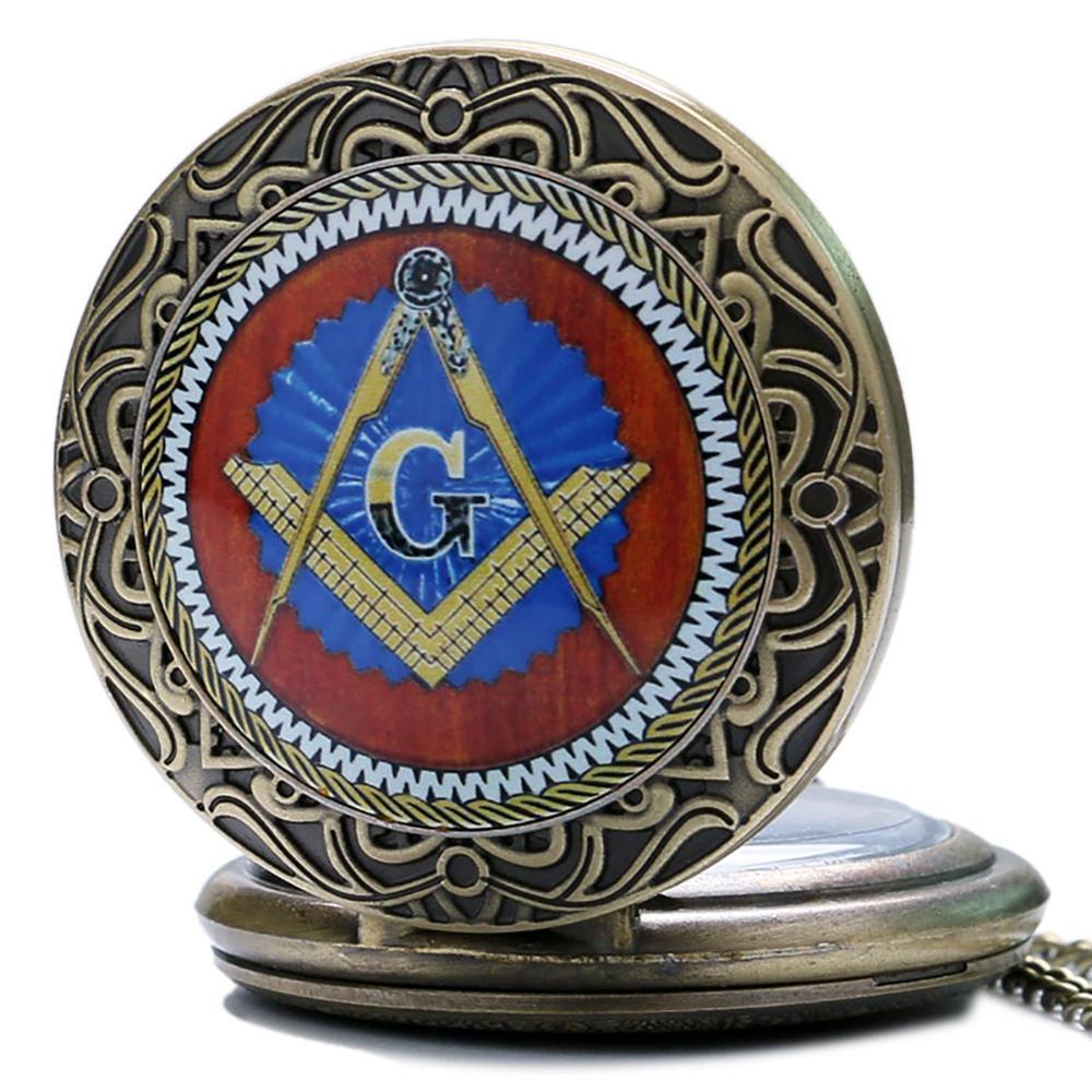 Бронзовий масонський масонство хром - Кишенькові годинники - фото 2