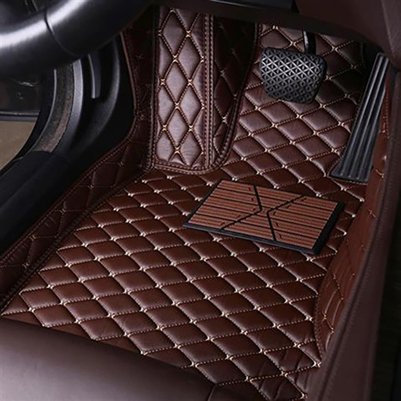For Mitsubishi Pajero V73 Waterproof Flash Muds Leather Car Floor MatsCustom Auto Foot Pads Accessories Carpet Cover Non Slip