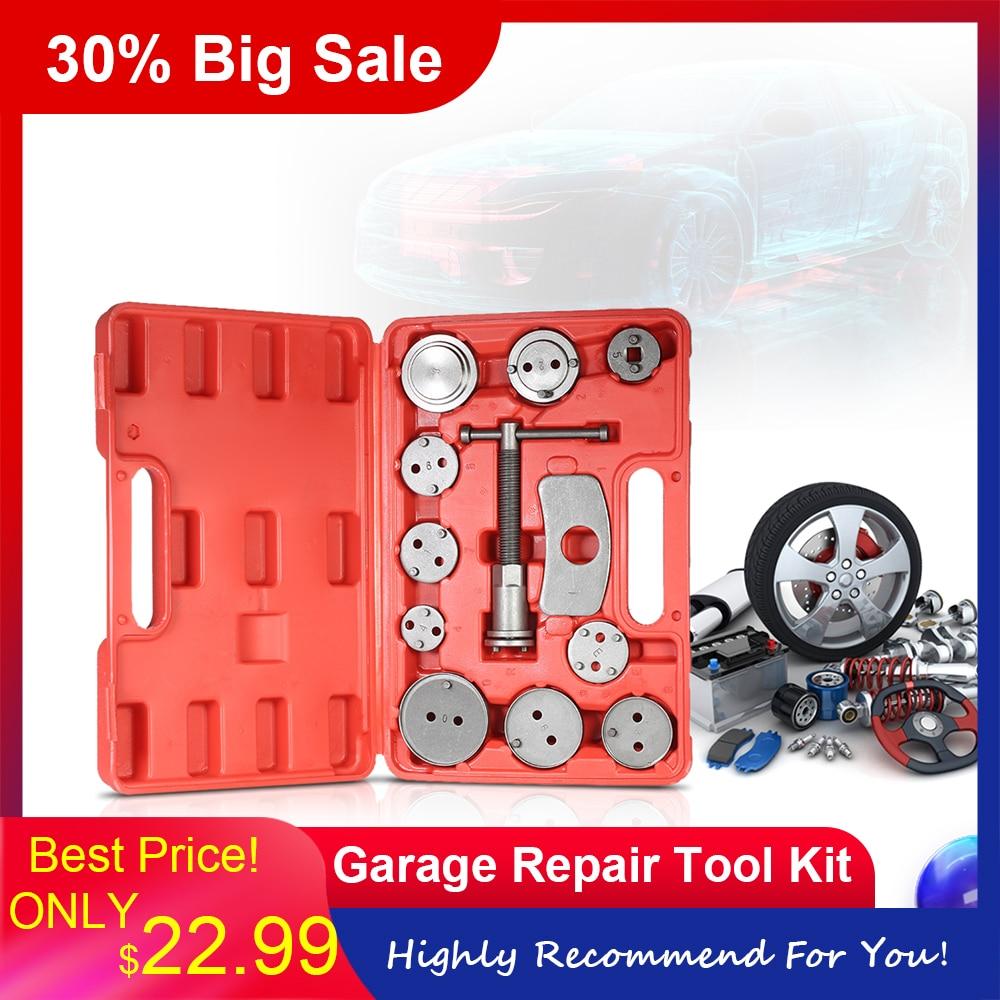 12pcs Car Universal Disc Brake Caliper Car Wind Back Pad Piston Compressor Automobile Garage Repair Tool Kit Set With Case Aliexpress