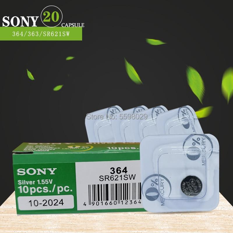 20pc FÜR SONY 1,55 V AG1 LR621 SR621 SR621SW SR60 SP364 TR621 Einzelnes korn verpackung Für Uhr Taste Batterien