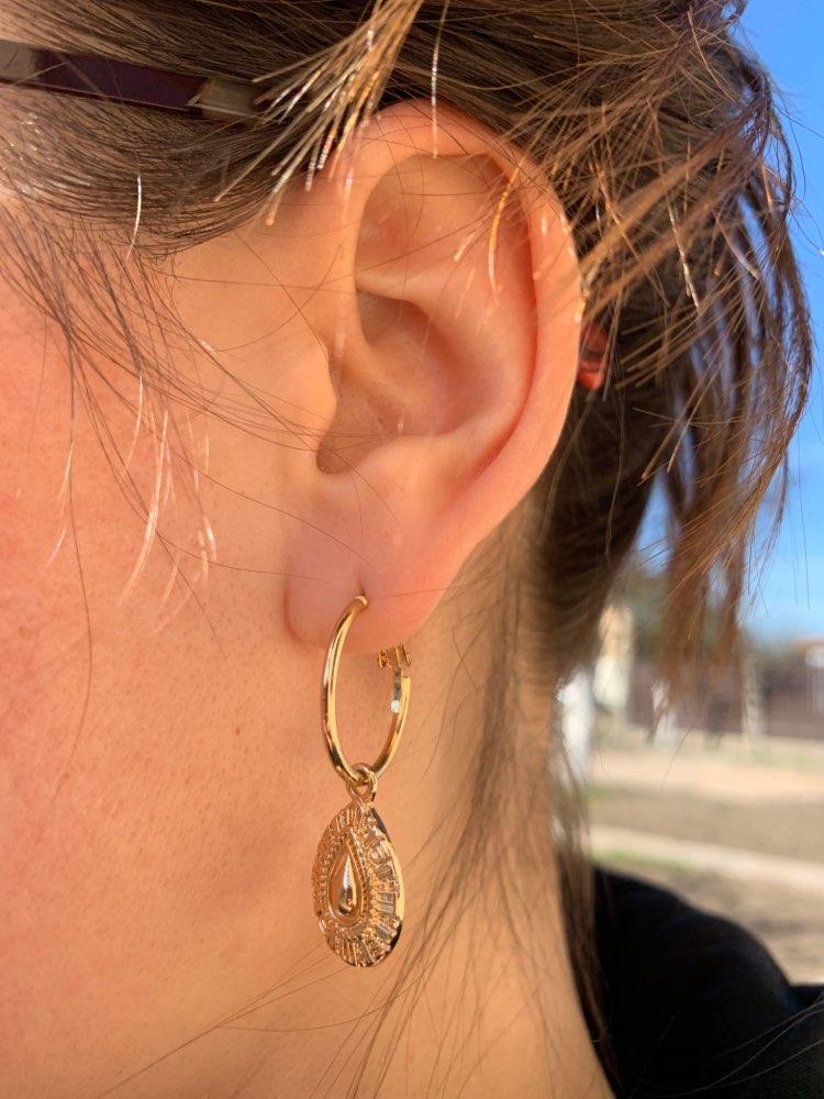 Трендовые серьги-кольца золотого цвета с текстурой в виде слезы и капель, женские великолепные украшения