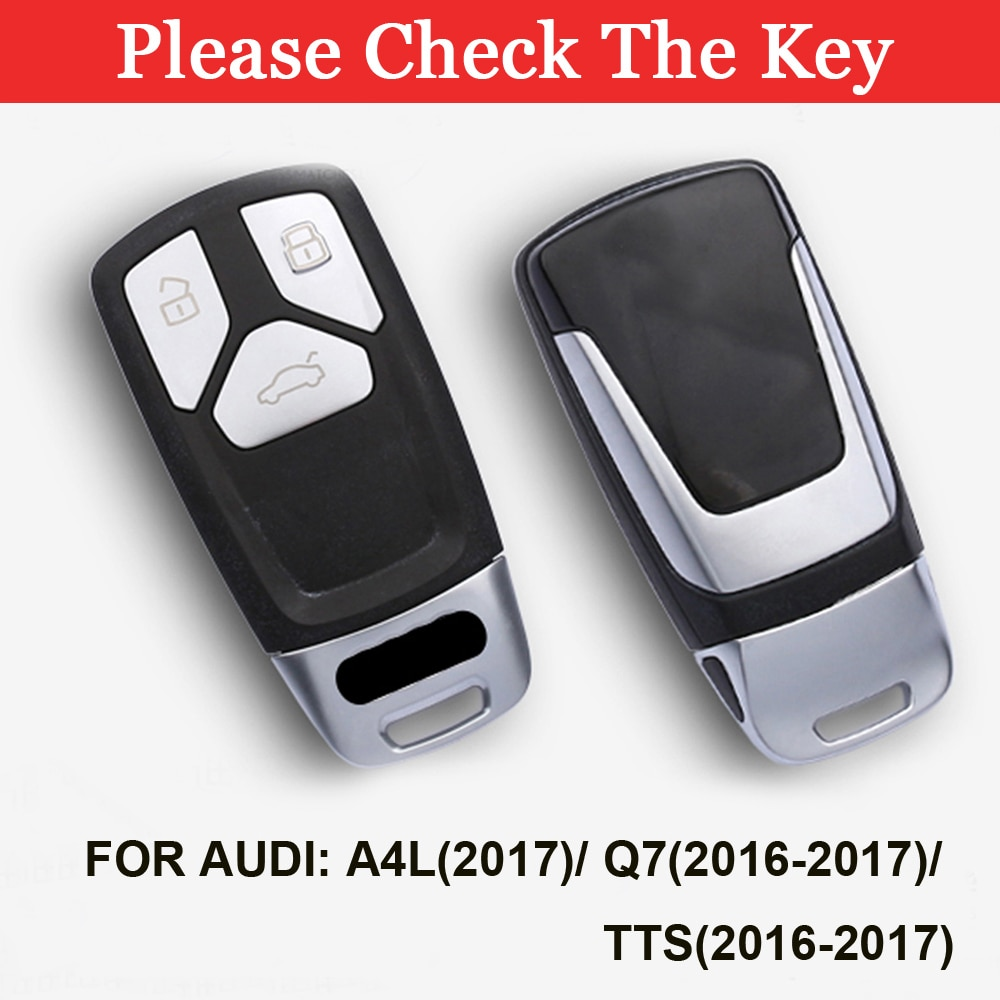 TPU Car Key Cover Case For Audi Q5 Q7 A4 B9 TT TTS 8S 2016 2017 2018 2019 Car Keyless Remote Protective Shell  - buy with discount