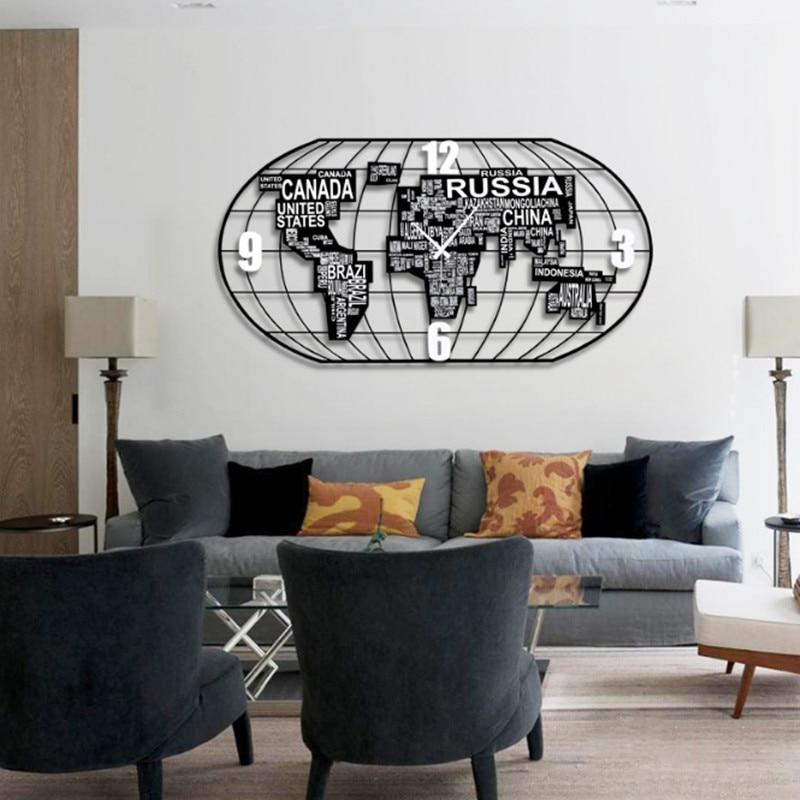 Europäischen Stil Große Wanduhr Einfache Diy Wanduhren Erraten Frauen Uhr Wohnzimmer Ruhigen Quarz Uhr Wanduhr Wandbild Geschenk