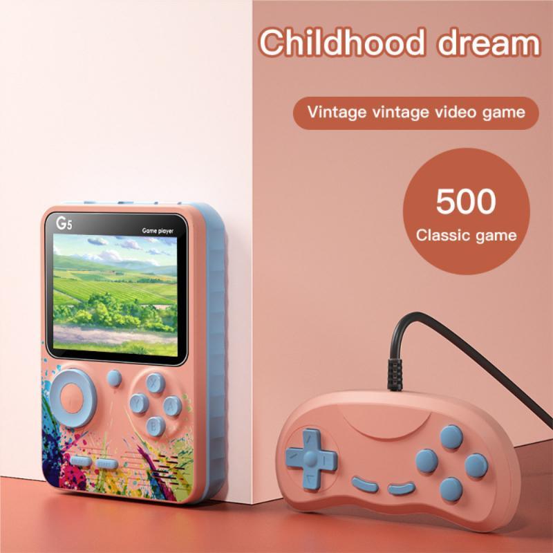 USB портативная игровая консоль Классическая ностальгическая игровая консоль мини портативная игровая консоль поставляется с 500 играми дет...