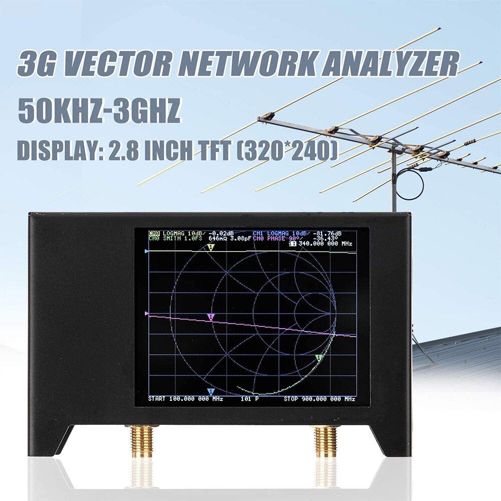 2.8 بوصة الجيل الثالث 3G ناقلات شبكة محلل SAA-2N NanoVNA V2 هوائي محلل على المدى القصير HF VHF UHF S-A-A-2 NanoVNA