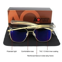 Aviation AO Polarized Sunglasses Men Brand Designer Vintage American Army Military Pilot Sun Glasses
