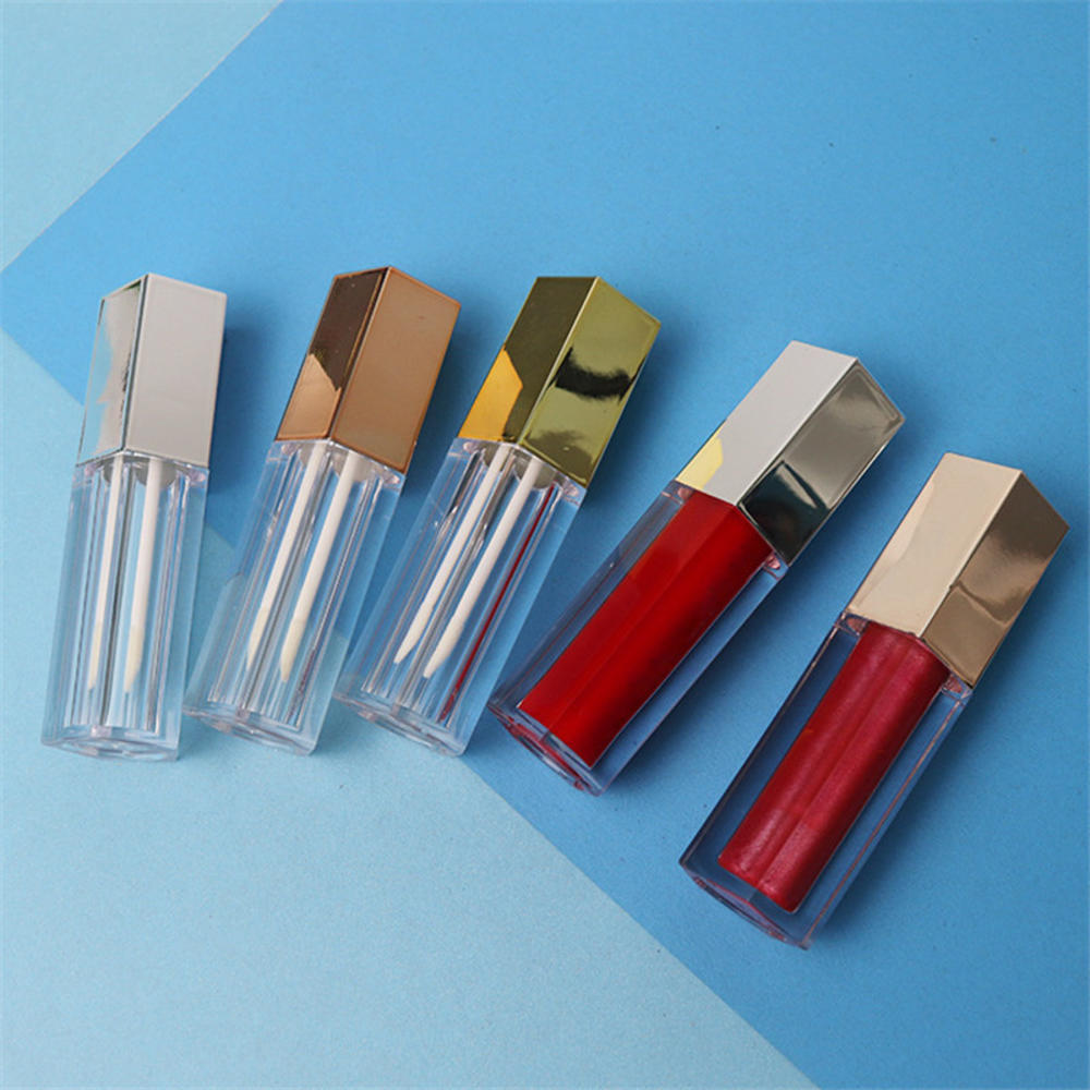 5ml Pentagonal Empty Lipgloss Bottle DIY Lip Gloss  Cosmetic Container Transprent Refillable Bottles Empty Lipstick Tube love heart diy lip gloss tube tube empty bottle lipstick tube sub bottle empty tube octagonal cosmetic container lip glaze