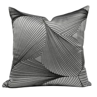 modern brief stripes cushion cover 50x50cm45x45cm home decor pillow dark gery decreative for living room sofa car cushions