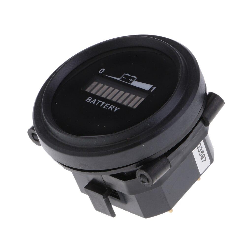 Indicador indicador de batería de 12 V-72 V, medidor para carretilla elevadora de barco Golfcart