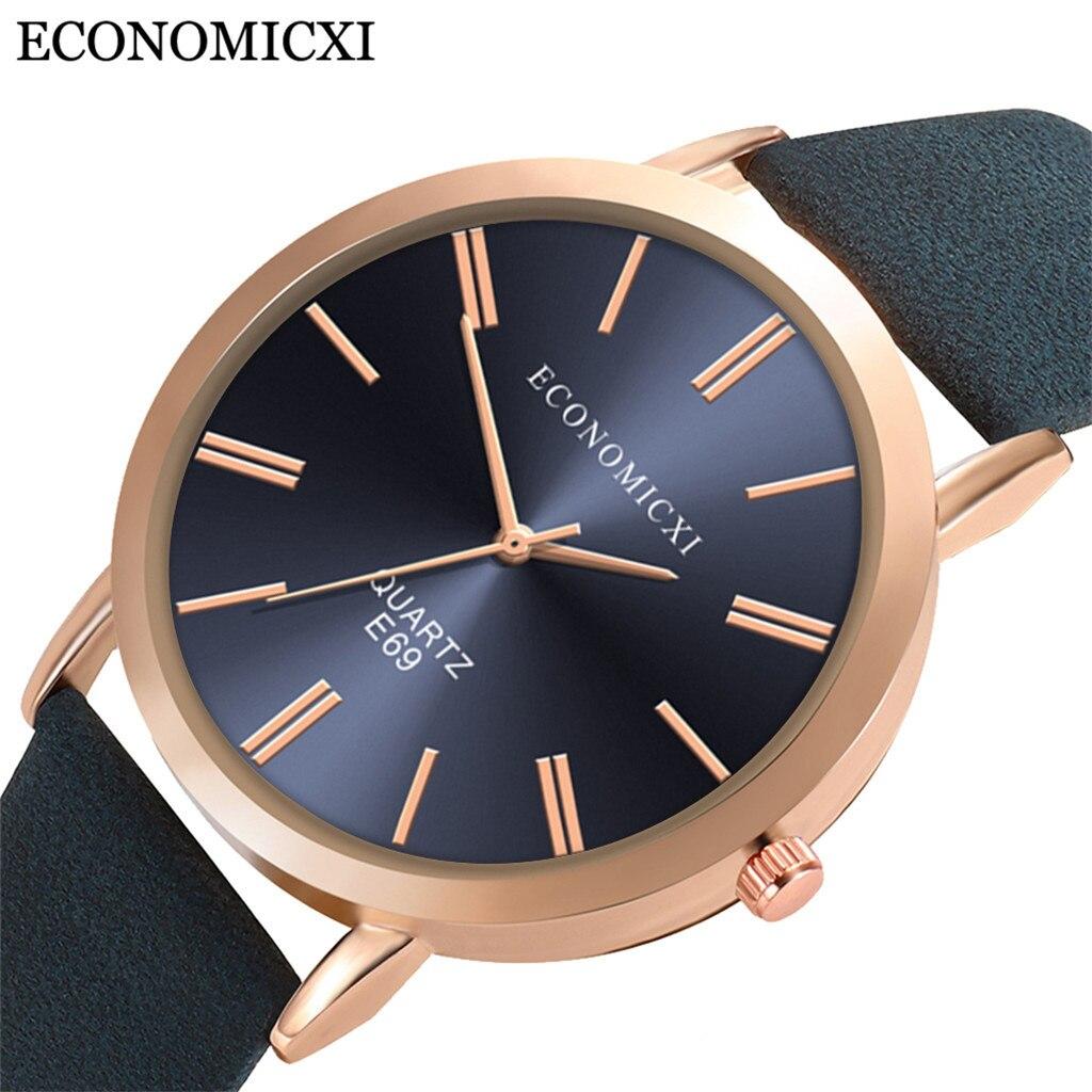 Women Fashion Quartz Watch Bracelet Set Black Dial Luxury Women Watches Simple Rose Gold Leather Lad