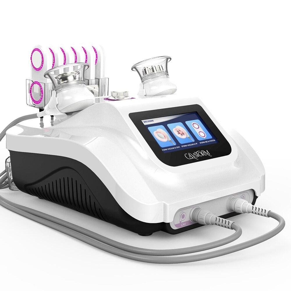 RF فراغ للدهون المركزة التفجير الجسم التخسيس مكركرنت جهاز الجلد آلة مدلك للوجه